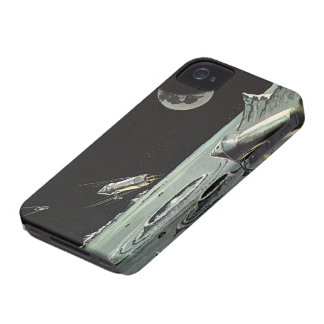 Coques iPhone 4 La science-fiction vintage, Rocket embarque des