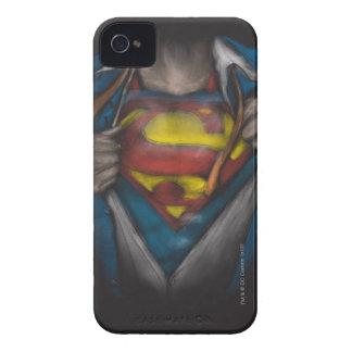 Coques iPhone 4 Le coffre de Superman | indiquent le croquis