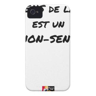 Coques iPhone 4 LE SENS DE LA VIE EST UN NON-SENS - Jeux de mots