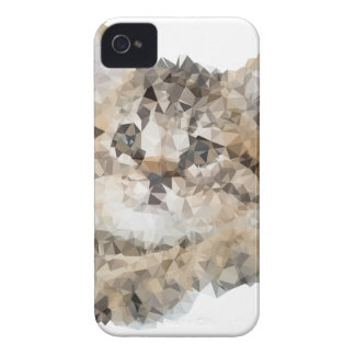 Coques iPhone 4 Low poly chaton
