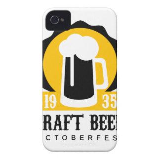 Coques iPhone 4 Modèle de conception de logo de bière de métier