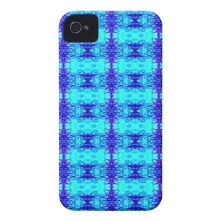 Coques iPhone 4 Motif tribal bleu au néon coloré de bleu royal