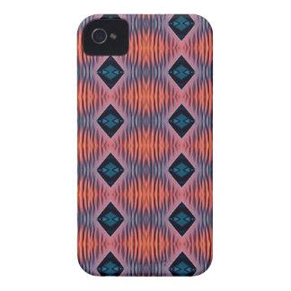 Coques iPhone 4 Motif tribal moderne bleu de pêche texturisée