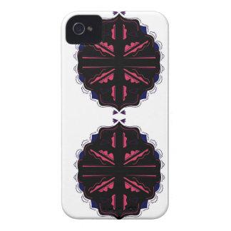Coques iPhone 4 Noir de luxe d'ornements sur le blanc