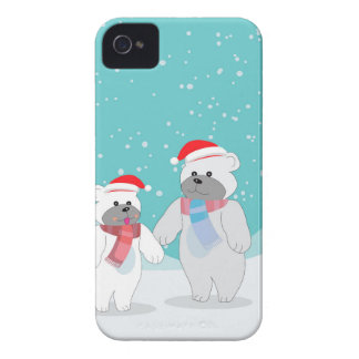 Coques iPhone 4 ours blanc B