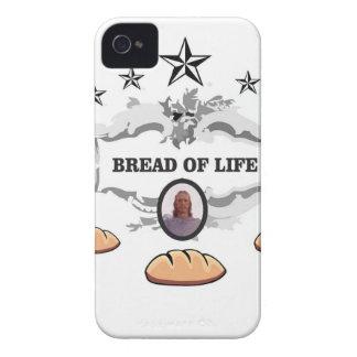 Coques iPhone 4 Pain de Jésus de logo de la vie