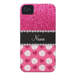 Coques iPhone 4 Parties scintillantes roses nommées faites sur