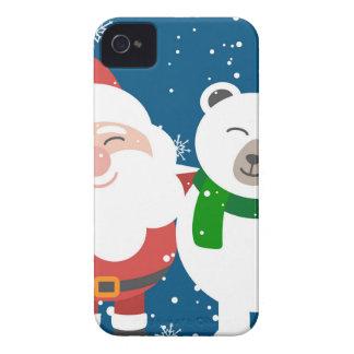 Coques iPhone 4 Père Noël et l'ours