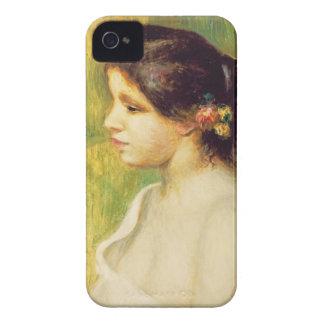 Coques iPhone 4 Pierre une jeune femme de Renoir   avec des fleurs