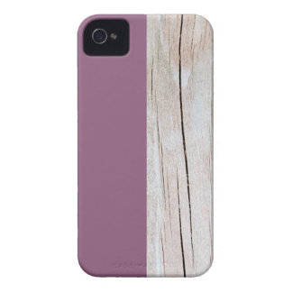 Coques iPhone 4 Purple + Wood
