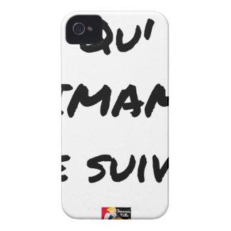 Coques iPhone 4 QU'IMAM ME SUIVE ! - Jeux de mots - Francois Ville
