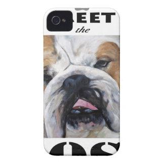 Coques iPhone 4 Rencontrez le cadeau animal d'art de bouledogue