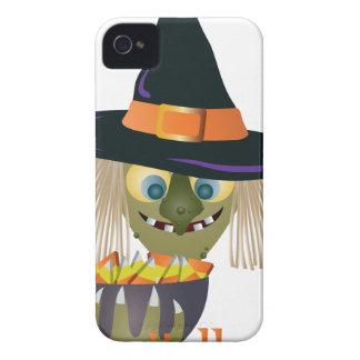 Coques iPhone 4 Sorcière heureuse de Halloween avec le bol de la