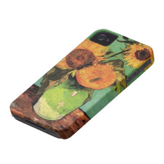 Coques iPhone 4 Tournesols de Van Gogh 3 en beaux-arts de cru de