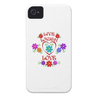Coques iPhone 4 Vivent les fleurs d'amour de rire