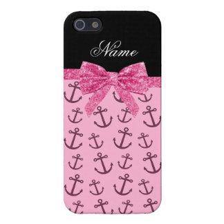 Coques iPhone 5 Arc nommé personnalisé d'ancres de rose en pastel