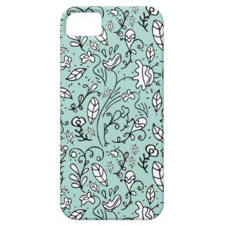 Coques iPhone 5 Caisse bleue de l'iPhone 5 de dentelle de fleur