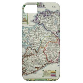 Coques iPhone 5 Carte de l'Irlande - carte historique d'Eire Erin