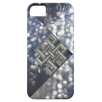 Coques iPhone 5 Cas celtique métallique de monogramme de parties