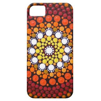 Coques iPhone 5 Cas de téléphone de mandala de lever de soleil