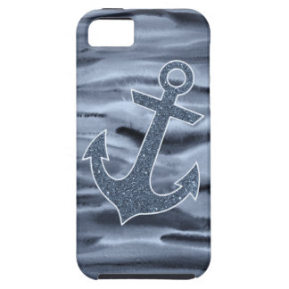 Coques iPhone 5 Case-Mate Ancre grise bleuâtre nautique de parties
