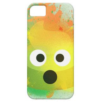 Coques iPhone 5 Case-Mate Art de peinture de jet de jaune de dunette d'Emoji