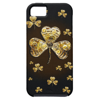 Coques iPhone 5 Case-Mate Caisse d'or élégante de l'iPhone 5 de shamrocks