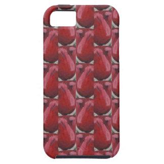 Coques iPhone 5 Case-Mate cas dur de l'iPhone 5 avec le motif rouge spécial