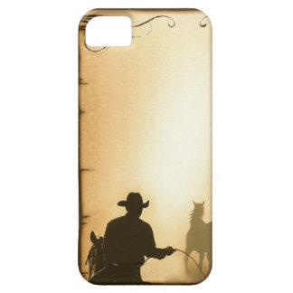 Coques iPhone 5 Case-Mate cowboy Roping de ranch occidental de case= de prot