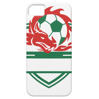 Coques iPhone 5 Case-Mate Crête rouge de ballon de football de dragon