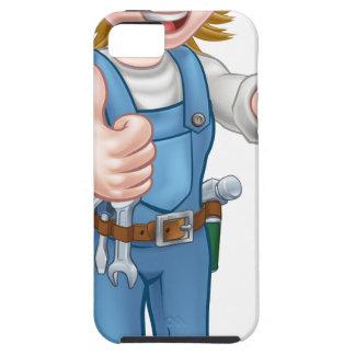 Coques iPhone 5 Case-Mate Électricien féminin de bande dessinée tenant le