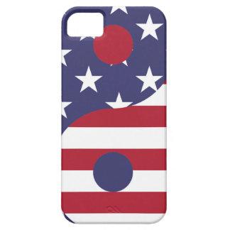 Coques iPhone 5 Case-Mate Équilibre d'Asiatique d'art abstrait de drapeau de