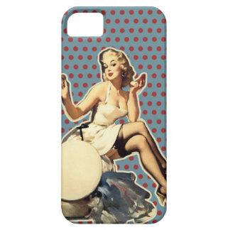Coques iPhone 5 Case-Mate Goupille vintage de rétro pois vers le haut de
