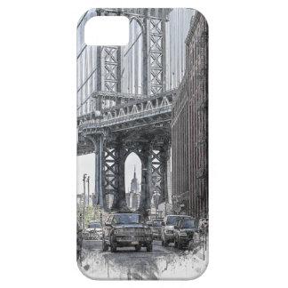 Coques iPhone 5 Case-Mate Horizon de pont des Etats-Unis New York Manhattan
