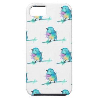 Coques iPhone 5 Case-Mate iPhone pour aquarelle d'oiseau/caisse galaxie de