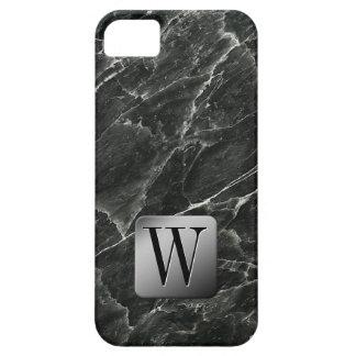 Coques iPhone 5 Case-Mate Monogramme de marbre noir