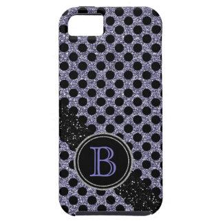 Coques iPhone 5 Case-Mate Monogramme noir et pourpre de parties