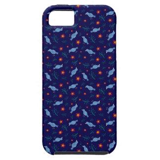 Coques iPhone 5 Case-Mate Oiseaux et fleurs sur la marine