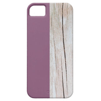 Coques iPhone 5 Case-Mate Purple + Wood