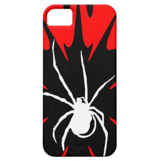 Coques iPhone 5 Case-Mate white spider / red and black