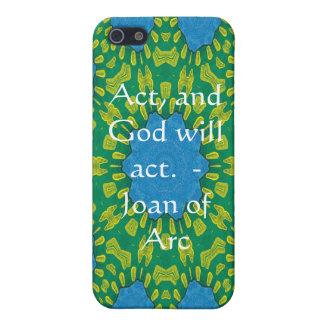 Coques iPhone 5 Citation de Jeanne d'Arc avec la conception