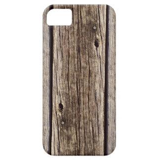 Coques iPhone 5 Conseil en bois rustique de photo et patiné