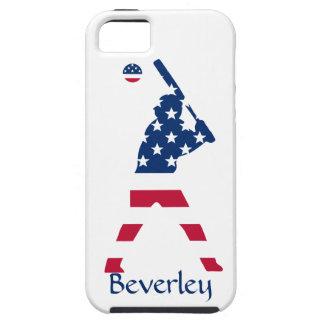 Coques iPhone 5 Drapeau d'Américain de base-ball de l'Amérique