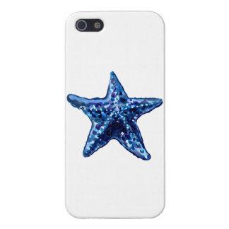 Coques iPhone 5 Étoiles de mer simples de bleu marine