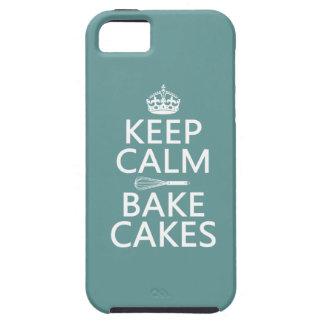 Coques iPhone 5 Gardez le calme et faites les gâteaux cuire au