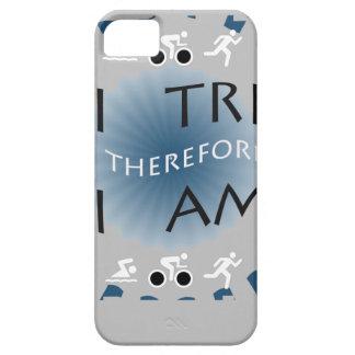Coques iPhone 5 I tri par conséquent je suis triathlon