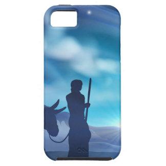 Coques iPhone 5 Illustration de Noël de nativité de Mary et de
