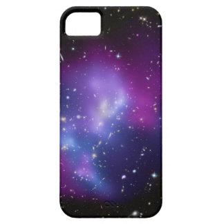 Coques iPhone 5 Image pourpre de l'espace de groupe de galaxie