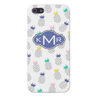 Coques iPhone 5 Monogramme abstrait des ananas |
