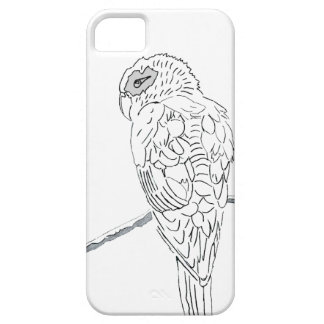 Coques iPhone 5 Perroquet blanc